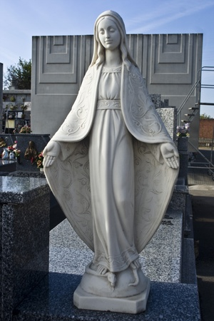 Sculpture Virgin Mary,
