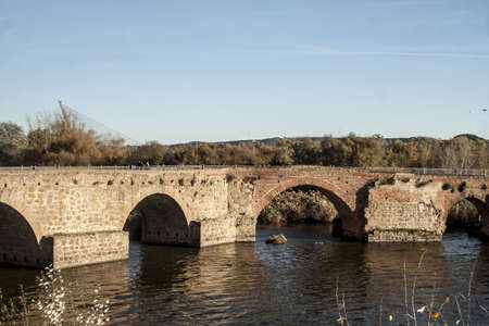 Roman Bridge, Talavera, Toledo Stock Photo