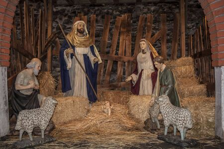 Little figures of Bethlehem Stock Photo - 17175921
