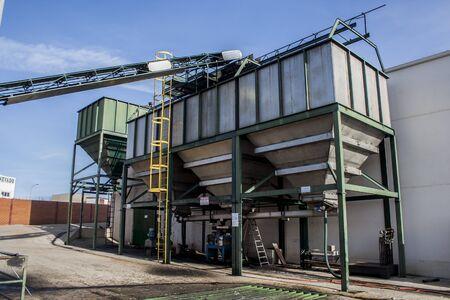 oil factory, Spain Stock Photo