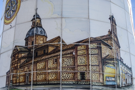 Talavera ceramic, tile painting Ermita del Prado