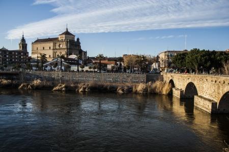 talavera de la reina: View of San Prudencio, Tagus River, Talavera, Toledo,