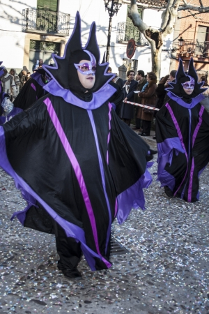 Participating in the annual Carnival parade Calera y Chozas, Toledo, Spain, February 9, 2013 Editorial