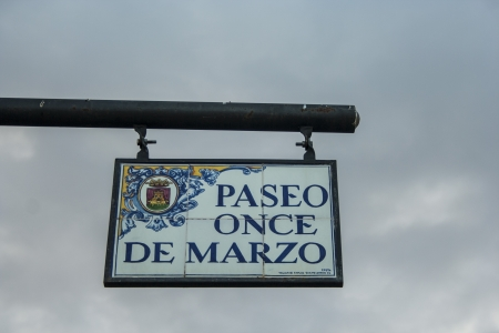 paseo: Ceramic poster name Paseo March Eleven, 11-M