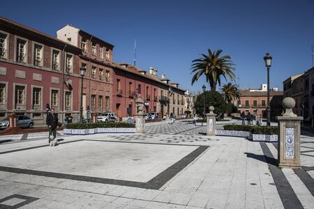 talavera: Plaza Mayor Square of Talavera, Toledo,  called Square Pan