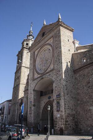 collegiate: Facade the Collegiate Church of Talavera, Toledo