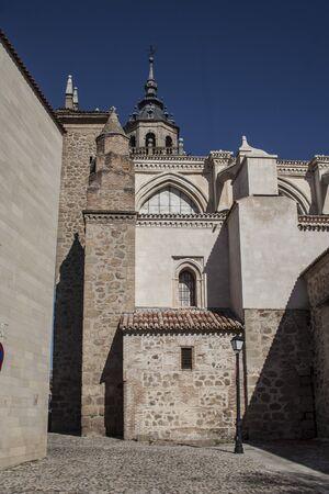 collegiate: Lateral Facade the Collegiate Church of Talavera, Toledo