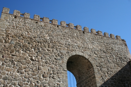 walled: Ramparts, Muralla de Talavera, Toledo Stock Photo