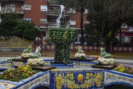 talavera de la reina: Source of frogs, Gardens Prado, Talavera, Toledo