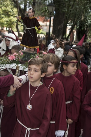 palm sunday: Holy Week Talavera, Procession of The Borriquita, Palm Sunday 2013