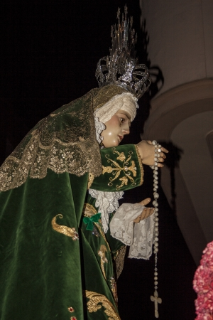 our lady of sorrows:  Holy Week 2013, Virgin Our Lady of Sorrows, Talavera, Toledo Editorial