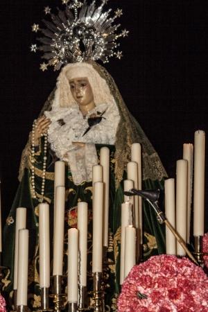 talavera:  Holy Week 2013, Virgin Our Lady of Sorrows, Talavera, Toledo Editorial
