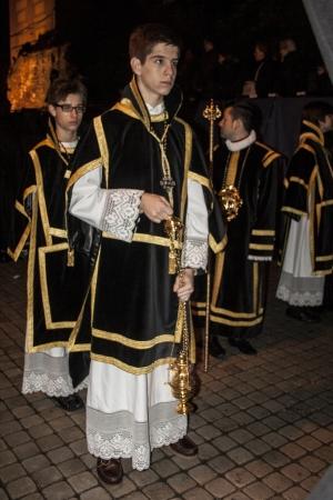 fraternidad: Monaguillos con incienso, la Hermandad del Santo Sepulcro, Talavera, Toledo