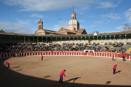 Bull Ring de Tavera de la Reina, Toledo Stock Photo - 18899928