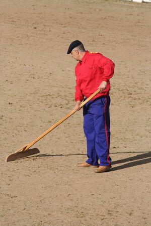 Nettoyage du bac à sable Banque d'images - 38140417