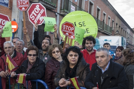 marchers: escrache, Marchers, pertaining, Platform Affected by Mortgage