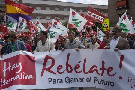 talavera: manifestation against unemployment Talavera, Toledo, Spain, 27042013