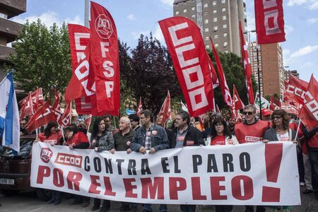 manifestation against unemployment Talavera, Toledo, Spain, 27042013