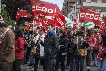 manifestation against unemployment Talavera, Toledo, Spain, 27042013
