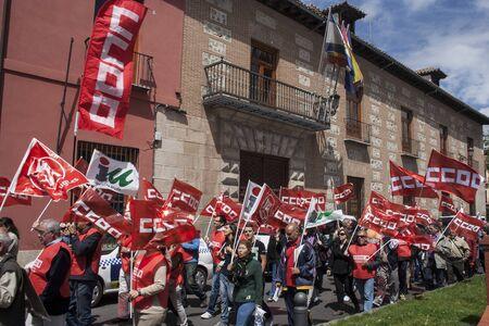 ugt: manifestation against unemployment Talavera, Toledo, Spain, 27042013