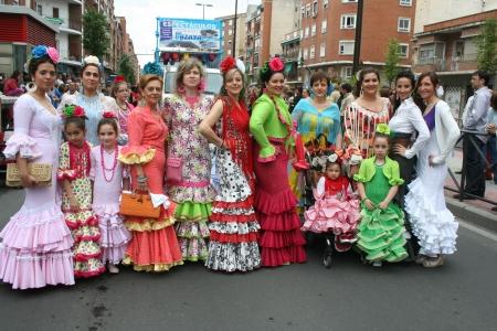 isidro: Sevillana suit, Festivals of San Isidro, Talavera May 15, 2013 Editorial