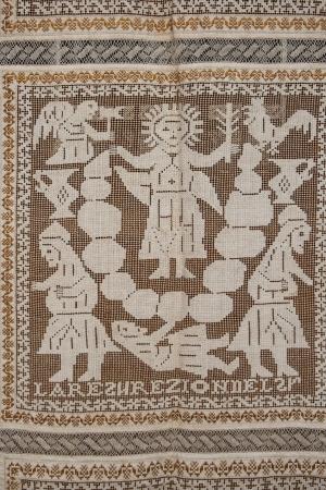 Feast Of Corpus Christi Lagartera Embroidery Decoration Of Stock