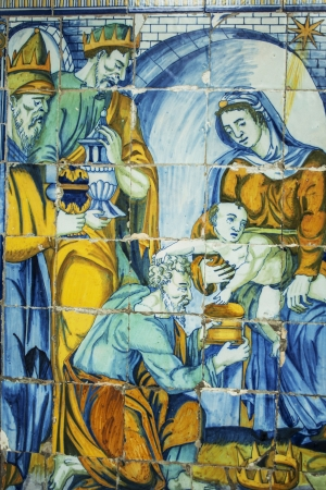 talavera de la reina: adoration of the Magi, tiles Basilica del Prado of Talavera de la Reina, which was called The Queen of the Chapels by Philip II, is also called the Sistine Chapel of ceramics, for this colorful art shows here all its glory from the sixteenth to the presen