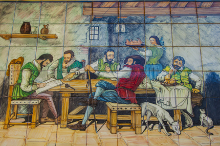 talavera: Panel Ceramics, Talavera de la Reina, Toledo Stock Photo