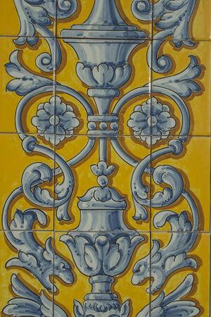 talavera: certamica details of Talavera de la Reina, Toledo Editorial