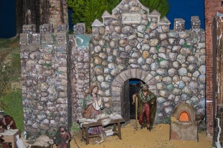 portal de belen: Pequeñas figuras Belen portal, decoración de Navidad,
