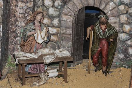 portal de belen: Peque�as figuras Belen portal, decoraci�n de Navidad,