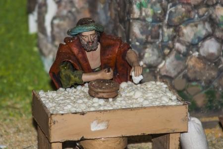 Pequeñas figuras Belen portal, decoración de Navidad, Foto de archivo - 24717204