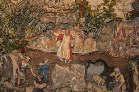 Christmas nativity scene of the birth of Jesus