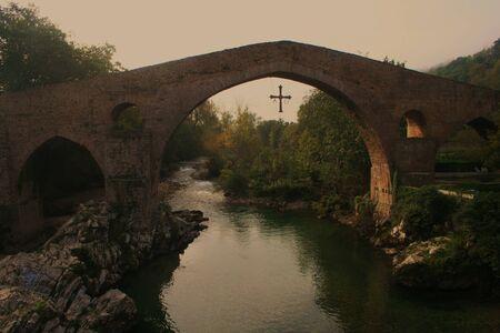 sella:  Roman Bridge, Cangas de Onis, river Sella, Asturias, Spain