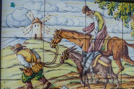 don quixote: Ceramic Talavera , Quixote