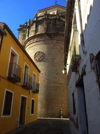 Abside de San Prudencio, Talavera de la Reina Banque d'images - 27542105