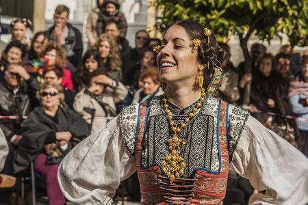 traditional celebrations: Traditional celebrations Carnaval de Animas, Valdeverdeja, Toledo, Spain Editorial