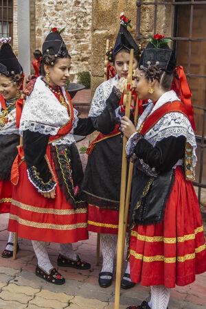 traditional celebrations: Traditional celebrations Carnaval de Animas, Villar del Pedroso, Caceres, Extremadura,   Spain, Editorial