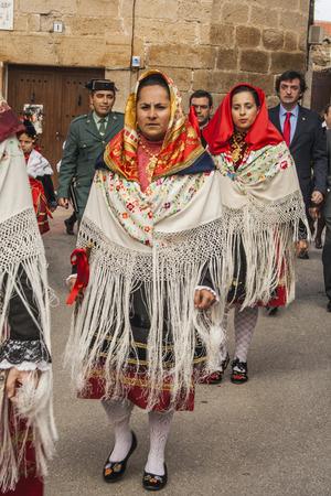 Traditional celebrations Carnaval de Animas, Villar del Pedroso, Caceres, Extremadura,   Spain, Editorial