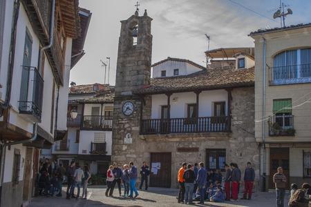 Carré Villanueva de la Vera, Cáceres, Estrémadure, Espagne Banque d'images - 27521295