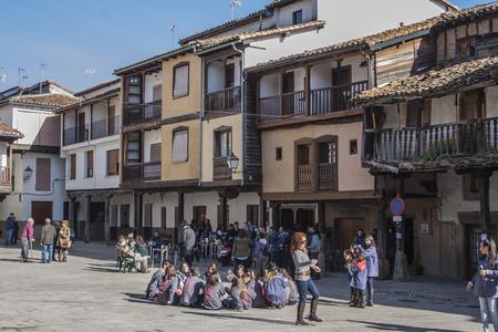Square Villanueva de la Vera, Caceres, Extremadura, Spain