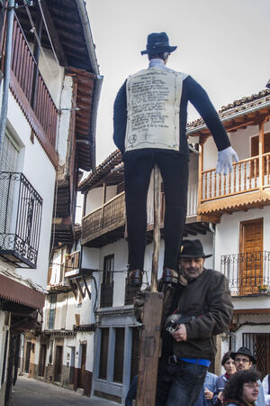 Shrove Tuesday, Villanueva de la Vera, Caceres, Extrmadura, Spain The Peropalo is a symbol of freedom, joy and life of the reproductive forces of nature, a celebration of color and great musical beauty, standing example of the identity of a people