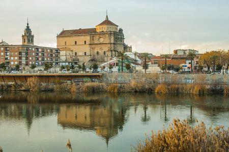 cityscape of Talavera de la Reina, river Tajo, Toledo, Spain
