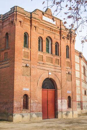 Façade Bullring jardins Prado Talavera de la Reina, Tolède, Espagne Banque d'images - 43535925