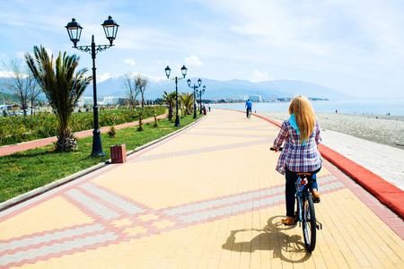 road bike: Girl, bike, road, travel, active life