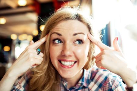 Young smart successful female smiling Фото со стока - 99206615
