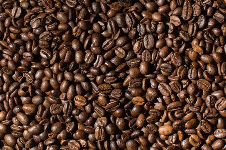 Coffee beans background wallpaper texture.