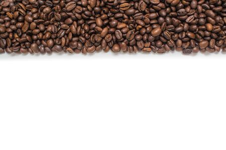 Coffee beans. Isolated on white background. Copy space. Stok Fotoğraf - 126328626