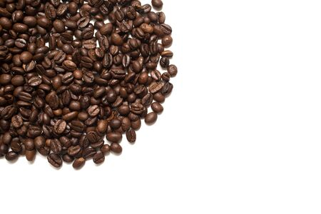 Coffee beans. Isolated on white background.