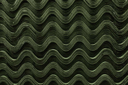 Roof green slate tiles pattern wave texture